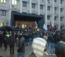 Над Одесским облсоветом поднят флаг России