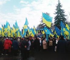 Евромитинг и шествие в Киеве собрали более 100 тысяч человек
