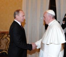 Владимир Путин посетил Папу Римского