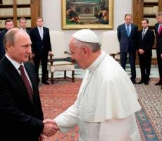 Встреча Владимира Путина и Папы Римского прошла в душевной атмосфере