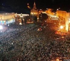Манифестация в Киеве - два миллиона участников за Евроинтеграцию Украины