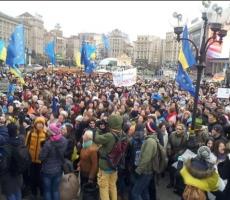 Киевский митинг разделился на две части