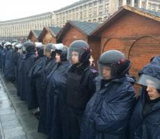 Беркут расчистил баррикады на улице Грушевского