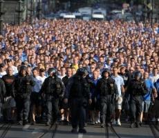 Футбольные болельщики из России и Польши прибыли в Киев на поддержку Евромайдана