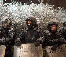 """""""Беркут"""" и внутренние войска страдают от морозов в Киеве"""