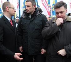 Кличко организовал марш в поддержку всеукраинской забастовки