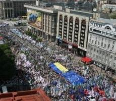 В Киеве начался марш оппозиции