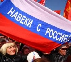 По данным экзит-полла 93% населения Крыма за вхождение в Россию