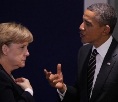 Обама и Меркель продолжают настаивать на выводе войск России из Украины