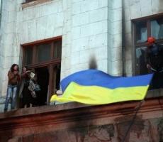 В Одессе вновь сорвали флаги Украины