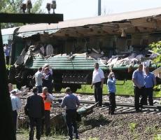 Под Москвой кишиневский поезд попал в железнодорожную катастрофу