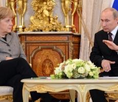 Путин и Меркель обсудили предварительные итоги консультаций в формате Россия – ЕС – Украина по газовому вопросу