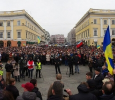 В Одессе возобновился Майдан