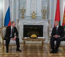 Путин провел переговоры с Лукашенко в Минске