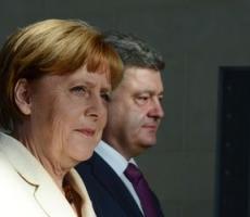 Петр Порошенко провел переговоры с Ангелой Меркель и Франсуа Олландом