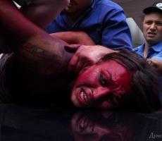 Антипутинская акция FEMEN в Одессе закончилась побоищем