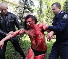 Голый перфоманс для судей Одессы