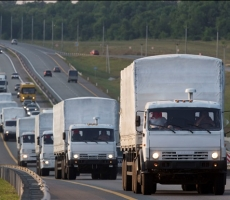 Жители Донбасса ожидают российскую гуманитарную помощь