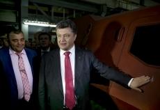 Петр Порошенко посетил Львовский ремонтный бронетанковый завод