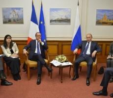 """Владимир Путин в беседе с Франсуа Олландом не затронул тему поставок вертолетоносцев """"Мистраль"""""""