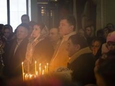 Накануне Петр Порошенко принял участие в рождественском богослужении