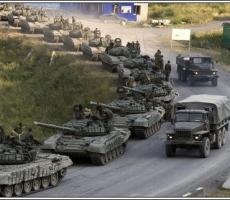 Ополчение стягивает танки к линии фронта