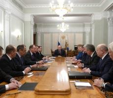 Сегодня в Москве состоялось совещание президента с постоянными членами Совета Безопасности