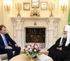 Евгений Шевчук поздравил Патриарха Кирилла с шестой годовщиной интронизации