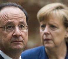 Ангела Меркель и Франуса Олланд требуют немедленно прекратить огонь на востоке Украины