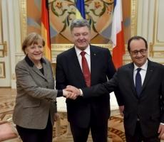 Ангела Меркель и Франсуа Олланд привезли в Киев свой план мирного урегулирования украинского конфликта