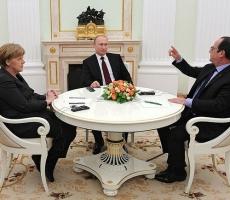 Итоги встречи Владимира Путина с Ангелой Меркель и Франсуа Олландом