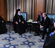 Владимир Путин встретился Патриархом Александрийским и всея Африки Феодором II в Египте