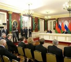 В Кремле состоялось заседание Высшего Государственного Совета Союзного государства