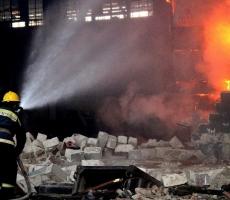 В Кишиневе на одном из предприятий вспыхнул пожар