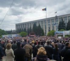 В центре Кишинева манифестанты выразили протест и недовольство условиями жизни