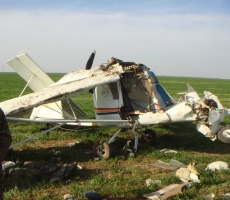 В Ростовской области разбился самолёт