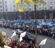 Профсоюзы пикетируют Кабинет министров Украины
