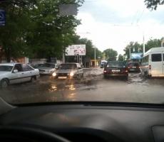 В Тирасполе прошел сильный дождь