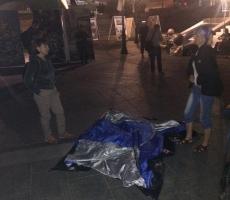 """Толпа в балаклавах"" снесла ночью на Майдане все палатки (ФОТО)"