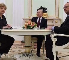 Путин, Меркель и Олланд обсудили украинский вопрос