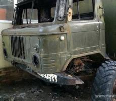 В столице Приднестровья вспыхнул грузовик
