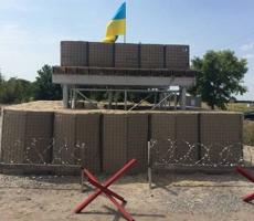на Украине начали появляться блокпосты установленные по стандартам НАТО