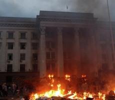 У здания Европарламента провели пикет в память о жертвах трагедии в Одессе