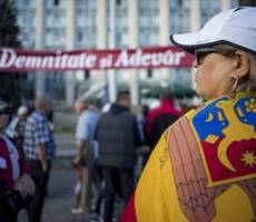 В Кишиневе проводится пикет у резиденции президента Молдовы