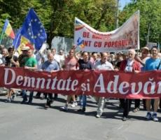 В Кишиневе боролись за место проведения митинга у парламента