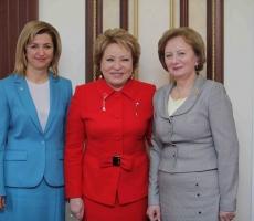 Ирина Влах встретилась в Валентиной Матвиенко в Санкт-Петербурге