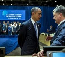 Барак Обама провел беседу с Петром Порошенко