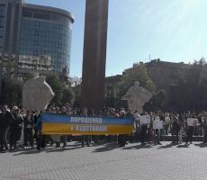 Митинг в Ивано-Франковске: движение за отставку Порошенко расширяется