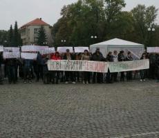 В Ужгороде состоялся протестный митинг