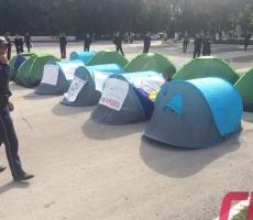 В Бельцах исчезли палатки митингующих против мэра города Ренато Усатого